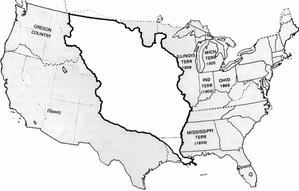 Louisiana Purchase Blank Map Swimnovacom - Blank map of the us with mississipi